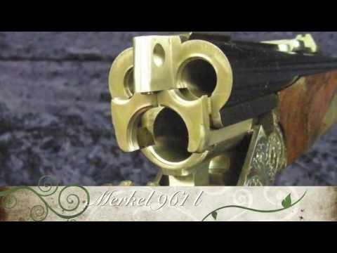 Firing A Merkel Double Rifle Drilling 961 LДРИЛЛИНГ С 1 ДРОБОВЫМ И 2 НАРЕЗНЫМИ СТВОЛАМИ, МОДЕЛЬ
