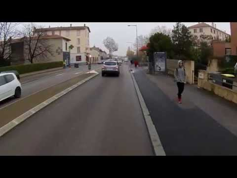 Scène de la Vie à Vélo à Lyon 0009 - Vélotaf un matin de brouillard
