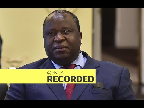 Finance Minister Tito Mboweni delivers his mid-term budget statement