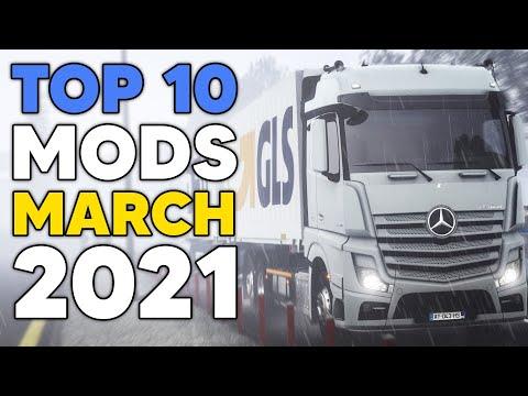 TOP 10 ETS2 MODS - MARCH 2021