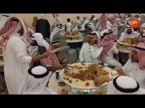 Saudi king staffs dinner party in Saudi Arabia