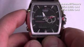 Обзор. Мужские наручные часы Casio Edifice EFA-120L-1A1(Подробное описание и фото: http://www.alltime.ru/catalog/watch/374/casio-edifice/Man/9162/detail.php?ID=58943&back=list., 2014-06-24T12:19:02.000Z)