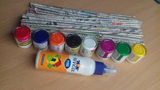 5 Ideas of Newspaper craft   Best out of waste craft ideas   Recycle of Newspaper