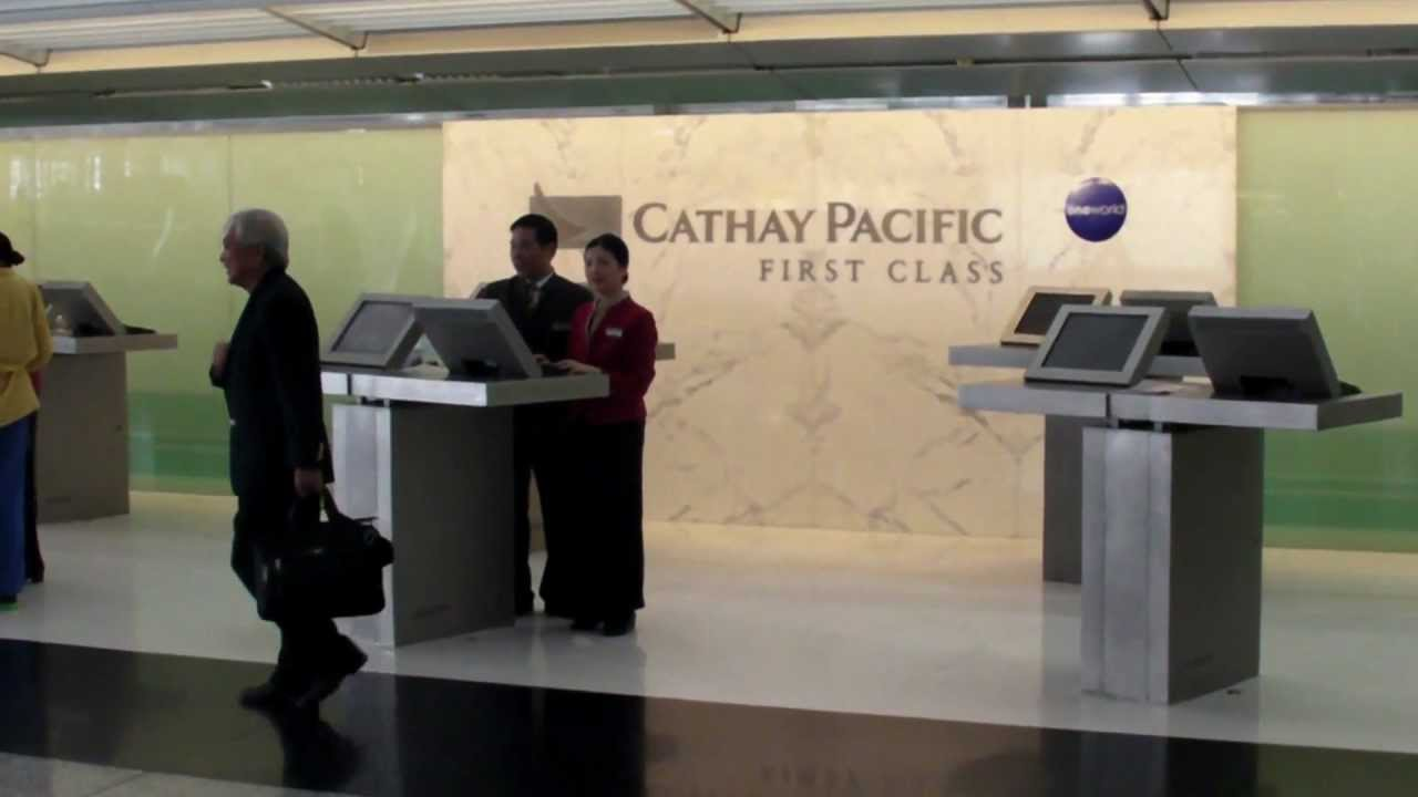 Cathay Pacific First Class Check In Counter Hong Kong
