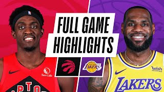 GAME RECAP: Raptors 121, Lakers 114