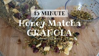 15 Minute Honey Matcha Granola