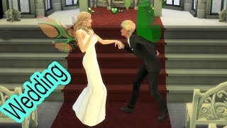A Very Fairy Winter Wedding ! Bride + Groom SIMS 4 Game Let's Play  Video Part 54