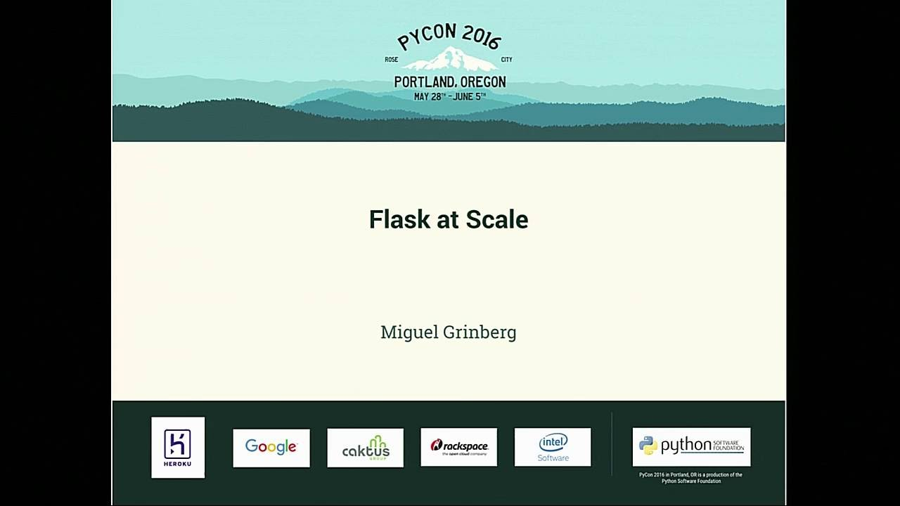 Image from Flask at Scale