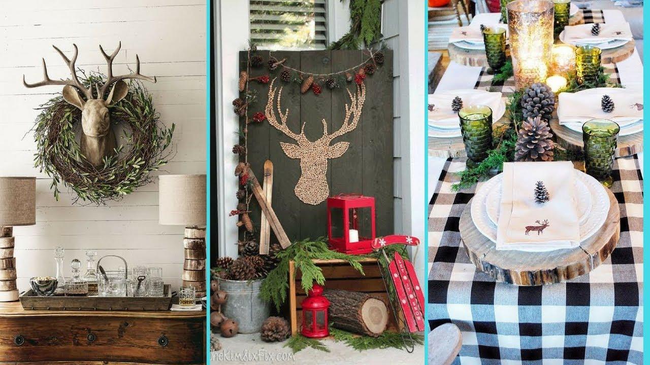 DIY Rustic Shabby chic style Winter decor Ideas | Home ...