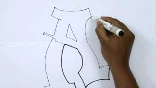 How to Draw Graffiti Letter A