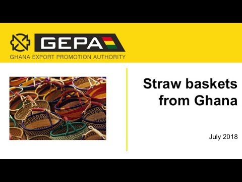 Straw baskets from Ghana