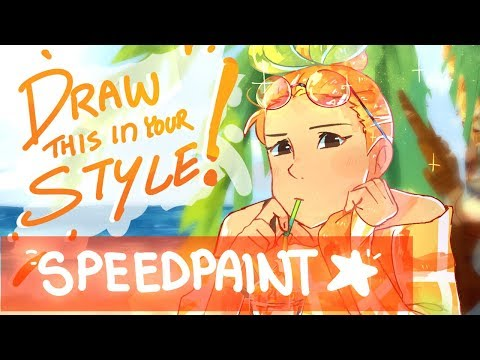 {speedpaint} Draw This In Your Style | Original Character Mango