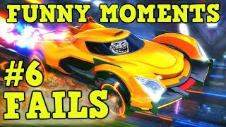 ROCKET LEAGUE FAILS & Funny Moments #6! (Funny Gameplay Compilation)