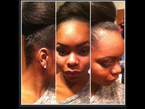 styles to do with kanekalon hair high bun updo w kanekalon hair hair edition 1598 | hqdefault