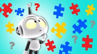 PUZZLE GAME?! Rob the Robot | Preschool Learning Videos for Children by Oddbods & Friends