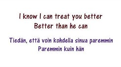 Shawn Mendes - Treat you better Finish Lyrics suomeksi ja englanniksi / Finnish and English