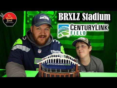 Brxlz NFL Stadium, Centurylink Field Seattle Seahawks, Time lapse Build and review.