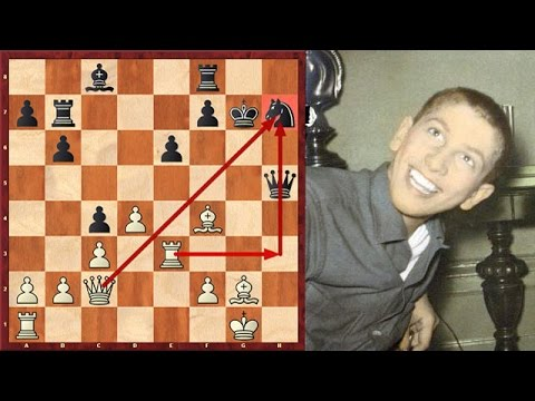 A Brilliant Attacking Game By A 14 Year Old Robert Fischer