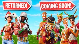 NOG OPS RETURNED TO FORTNITE! ALL RARE CHRISTMAS SKINS RETURNING SOON!