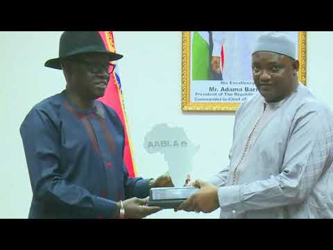 H.E President Adama Barrow receive' s CEO of TAF AFRICA ...
