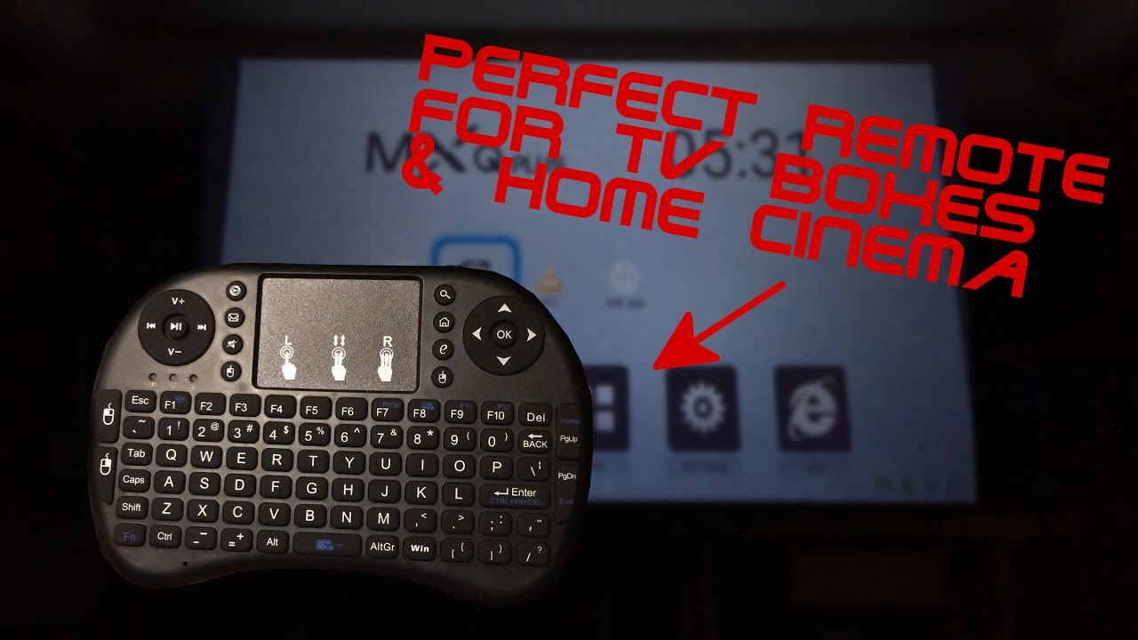 bd79604a176 TEST: MINI WIRELESS Keyboard with TOUCHPAD for KODI TV BOX VENSMILE I8 |  Review
