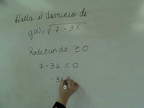 Hallar El Dominio De Una Funci 243 N Con Ra 237 Z Par Youtube