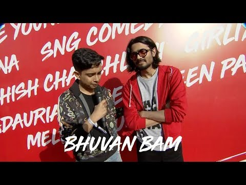Bhuvan Bam at Youtube Fanfest Red Carpet(Mumbai) 2018