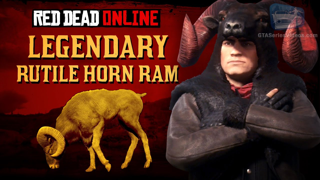 Red Dead Online - Legendary Rutile Horn Ram Mission [Animal Field Guide]