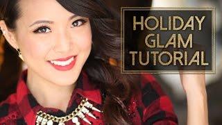 HOLIDAY GLAM | Hair & Makeup Tutorial! Thumbnail