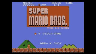 "【Viola Quartet】""Super Mario Bros. Medley"" performed by VIO.L4.SING (Hong Kong)"