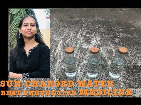 How to make Sun-Charged / Sun-Energized Water, Benefits and Uses | Anshu Todi
