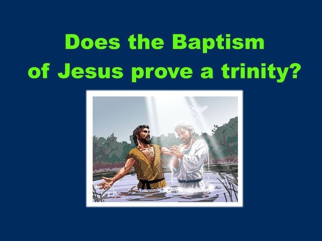 The Truth about Jesus' baptism