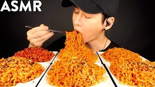 ASMR MOST POPULAR FOOD - SPICY FIRE NOODLES (2X & 10X Nuclear, Curry, Toppoki, Jjajang, Original)