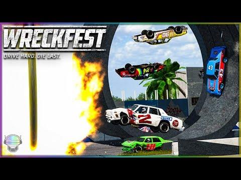 THE LOOP OF DESTRUCTION! | Wreckfest | NASCAR Legends/A Class