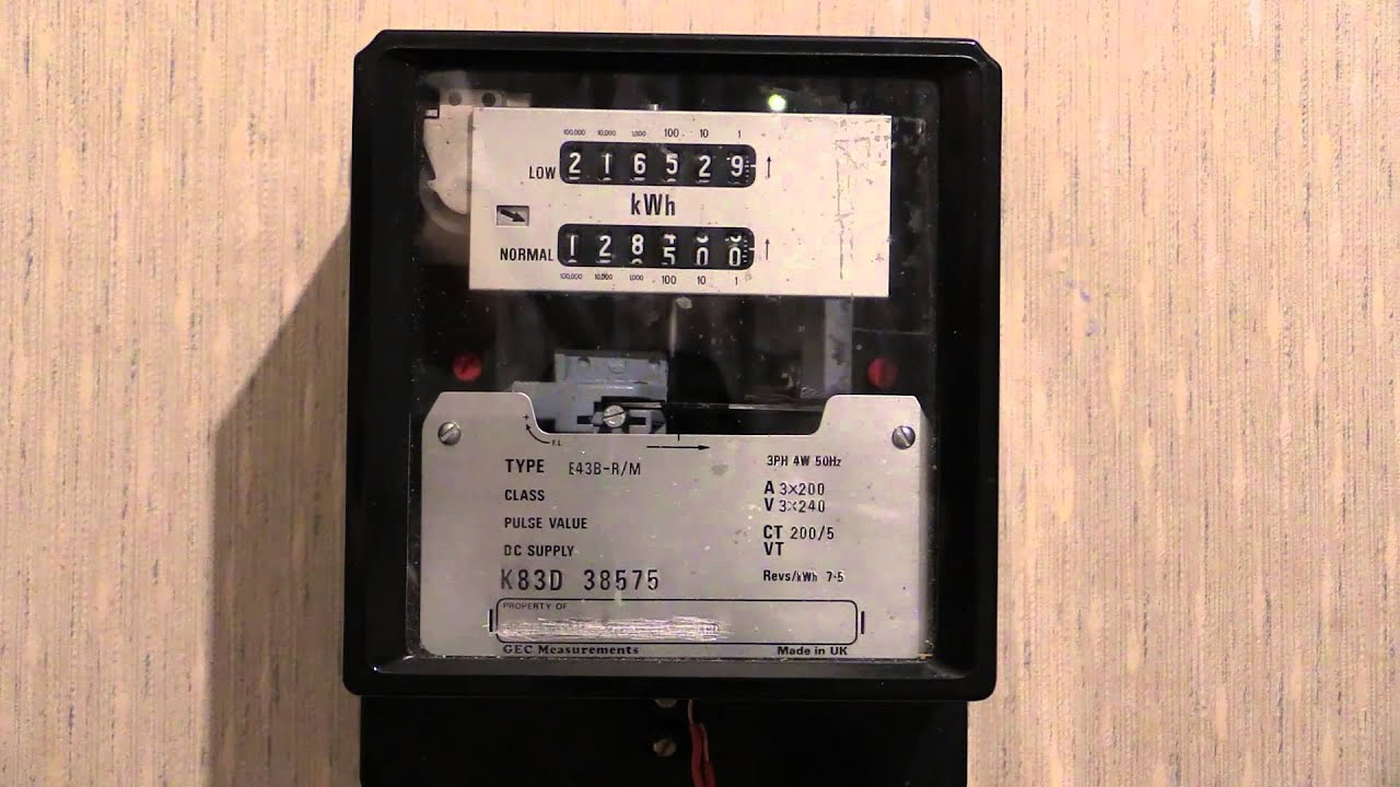 Electricity Meter : GEC E43B RM 3ph CT kWh Meter  YouTube