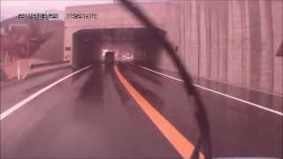 【アーカイブス映像】大型車のすれ違いができない⇒(すれ違える)幅員狭小区間(疋田 ひきだトンネルが祝完成)drive recorder thumbnail