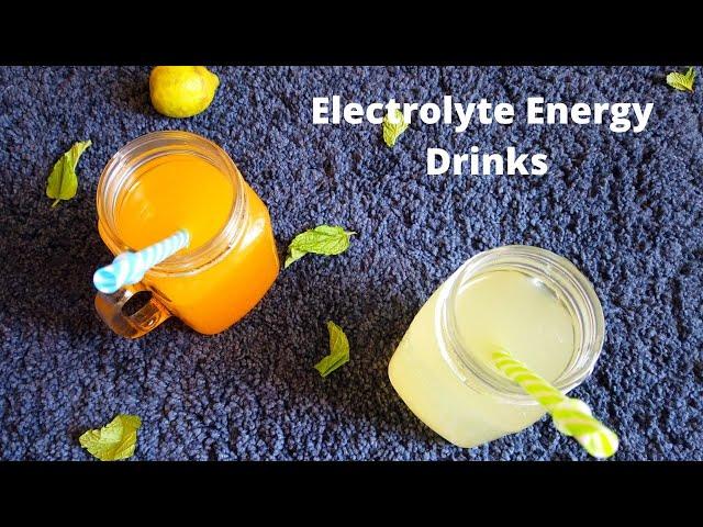 Electrolyte Energy Drinks | Homemade Rehydration Drinks Using Pink Himalayan Salt | Desert Food Feed