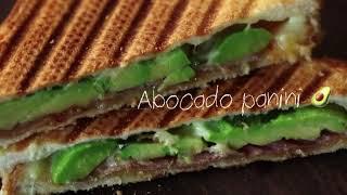 아보카도 파니니 샌드위치 직화그릴로 따뜻한 겨울 샌드위…