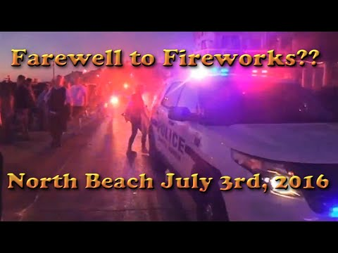 South Haven Michigan - North Beach activity before Riot - Farewell to Fireworks??