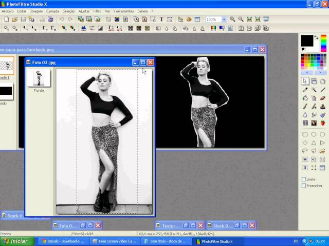 #1 Video aula Photofiltre Studio x 10.7.3 - Capa para Facebook...
