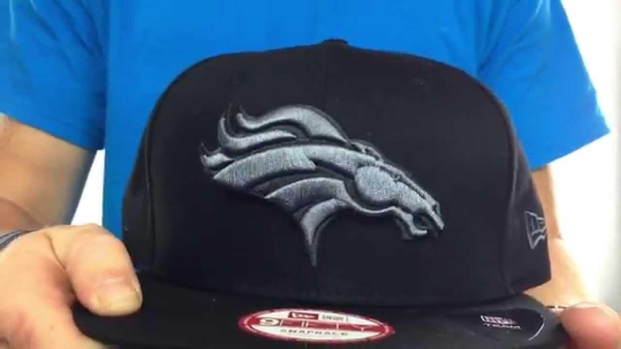 Broncos  FADEOUT SNAPBACK  Black-Grey Hat by New Era - YouTube 8fe6e7686