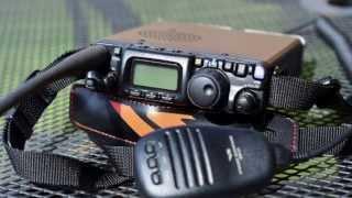 Yaesu FT817ND HF/VHF/UHF radio with Wonder Wand antenna