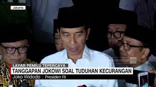 Tanggapan Jokowi Soal Tuduhan Kecurangan