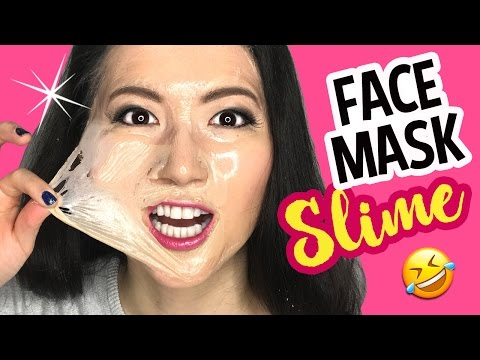 DIY Clear Jelly FACEMASK Slime WITHOUT GLUE!! Make Scented Soft Slime