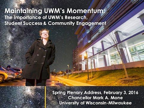 UWM Chancellor Plenary Spring 2016 (February 3, 2016) 2:30pm