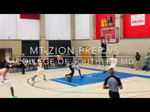 Mt. Zion Prep (MD) vs College of Southern Maryland (MD) Highlights 11-01-19
