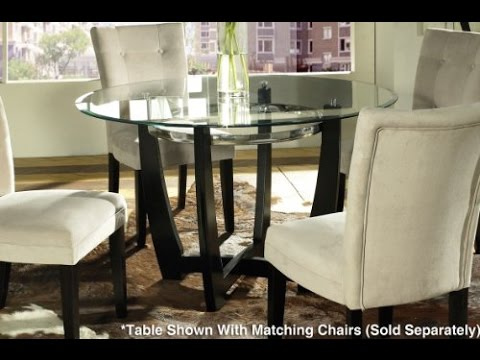 Incroyable Steve Silver Matinee 48 Inch Round Glass Dining Table In Dark Cherry Finish