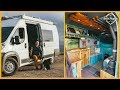 He Built a Rustic Campervan for Him & His Dogs in 4 Weeks! - Van Tour