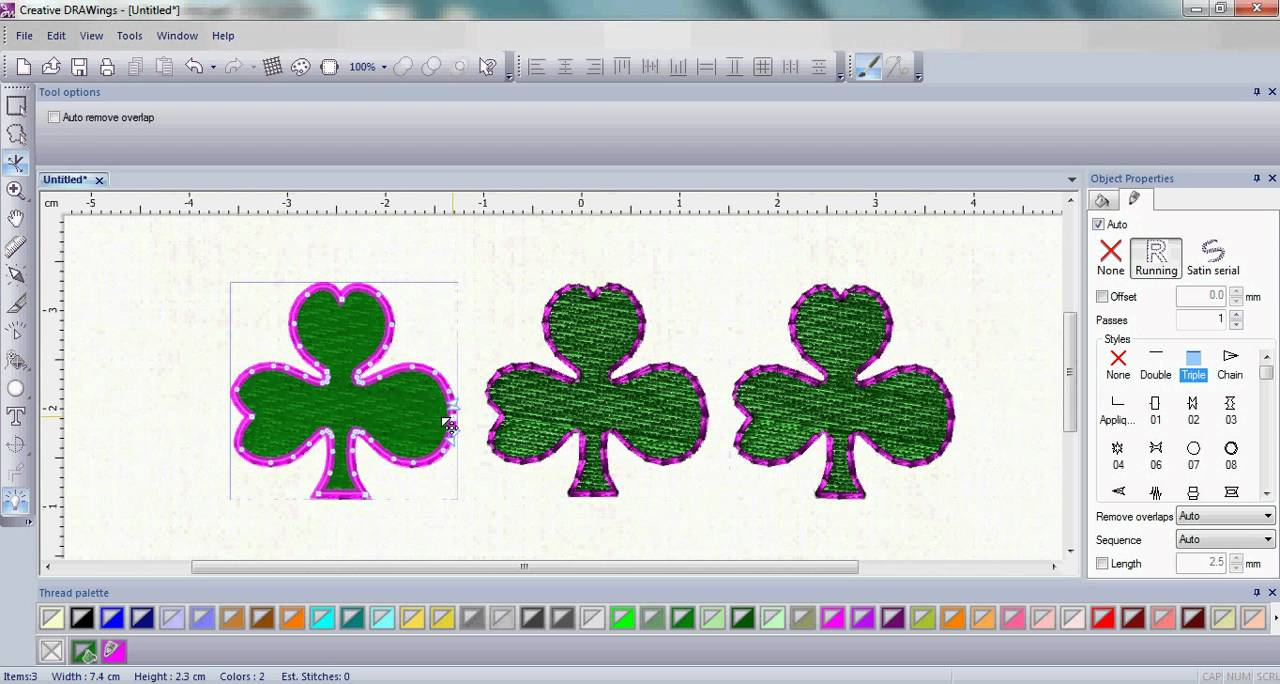 DRAWings embroidery software - DRAWings 8 PRO embroidery software