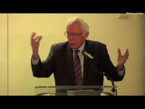 Sanders Keynote at Economists for Peace & Security Event